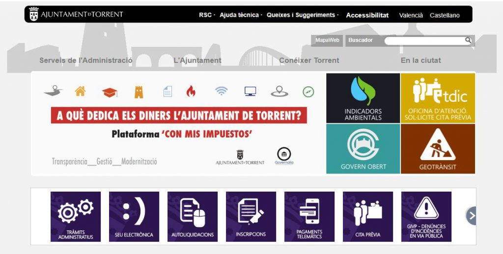Página web Torrent_transparencia